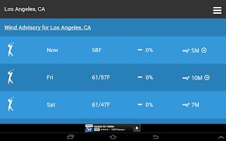 Screenshot of Golf Weather