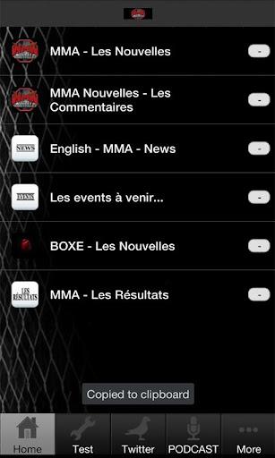 MMA Nouvelles