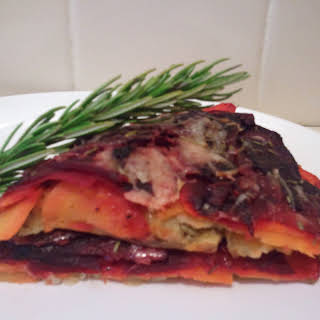 Rustic Rainbow Root Vegetables with Rosemary (or, more simply put, Root Vegetables Anna).