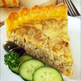 Swiss Inspired Onion Quiche.