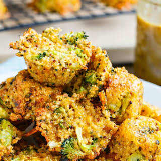 Broccoli and Cheddar Quinoa Bites.
