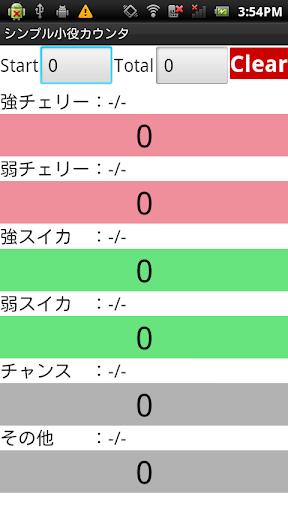 シンプル小役カウンタ