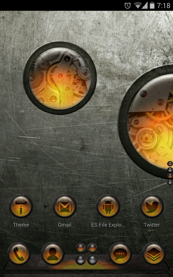 Next Launcher Theme SteampunkO - screenshot