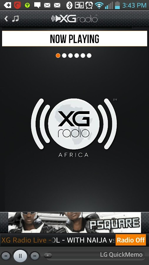 XGRadio Africa - screenshot
