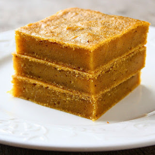 Chewy Pumpkin Bars.