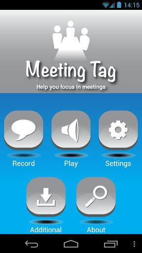 Meeting Tag - Meeting Recorder