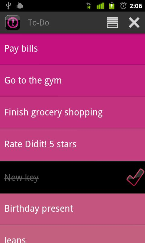 Did it | Free To-Do List - screenshot
