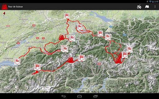 Tour de Suisse routes 2013