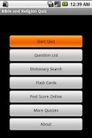 Screenshot of 500 Bible Quiz Questions