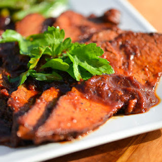 Braised Brisket in Apricot and Cranberry Sauce