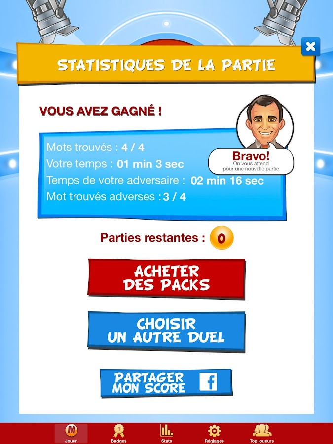 Motus, le jeu officiel France2- screenshot