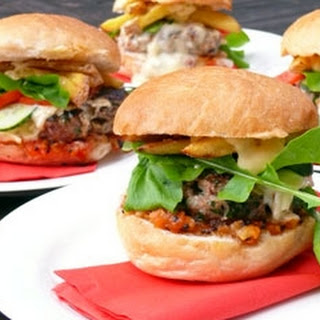 Lamb Burger With Blue Cheese And Pear & Tomato Chutney