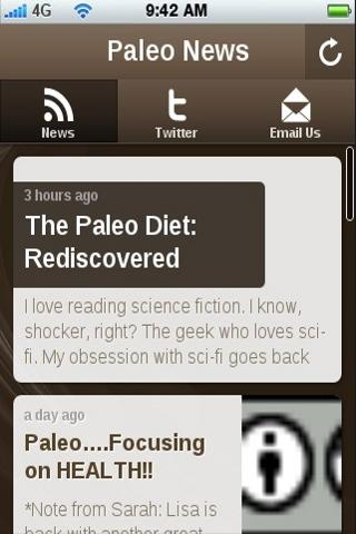 Paleo News- screenshot