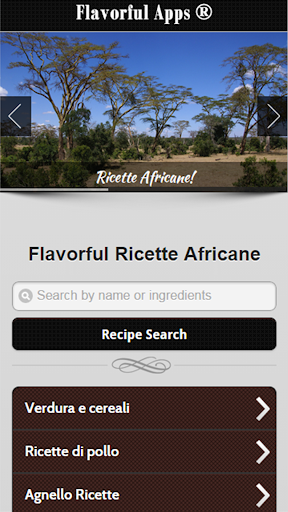Africani Ricette