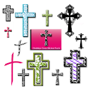 Christian Faith Cross Stickers logo