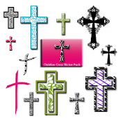 Christian Faith Cross Stickers