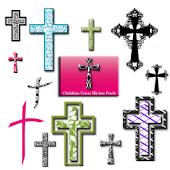 Christian Faith Cross Stickers