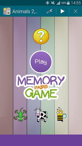 Animals 2 Memory Game Pairs