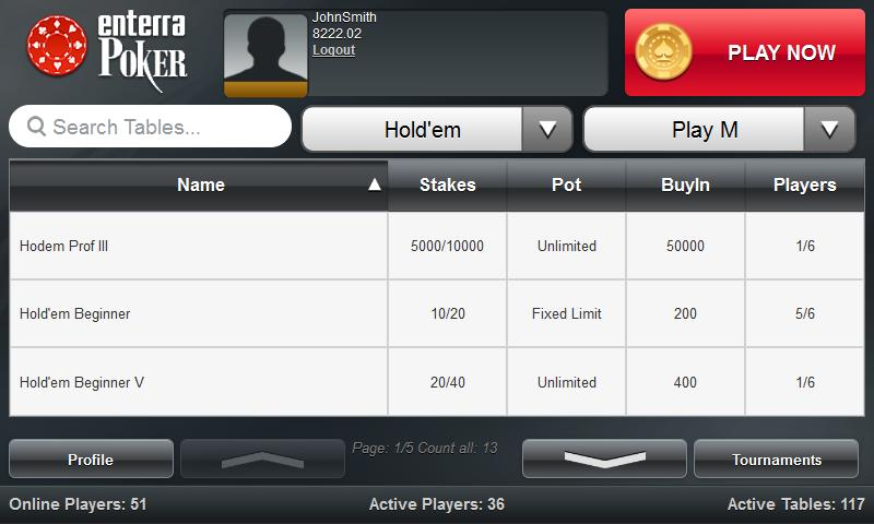 Enterra Poker - screenshot