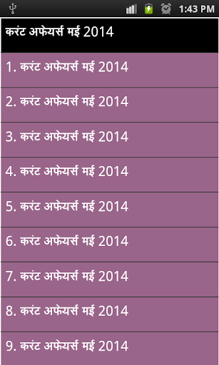 may current affairs 2014