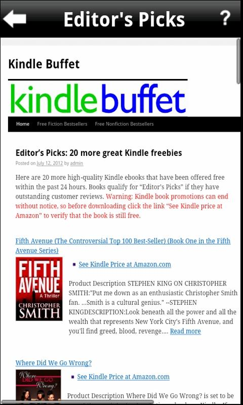Kindle Buffet - Free eBooks - screenshot