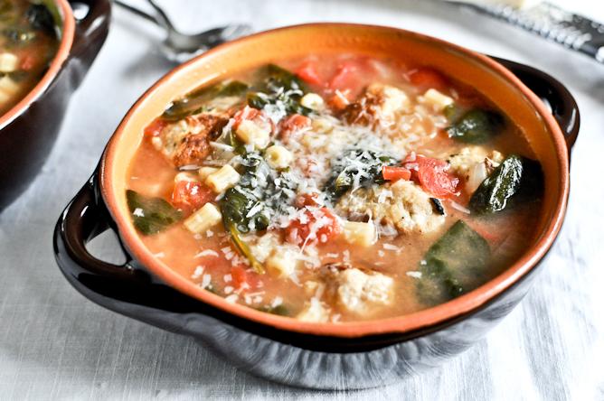Mini Chicken Meatball Soup
