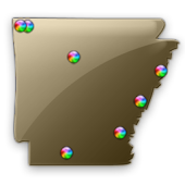 Arkansas Fishing Maps - 8,900