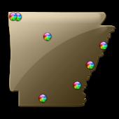 Arkansas Fishing Maps - 8,900
