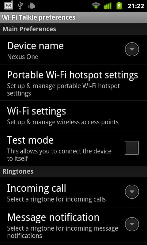 Wi-Fi Talkie - screenshot