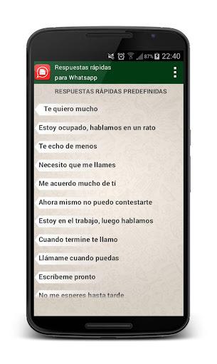 Respuestas para Whatsapp