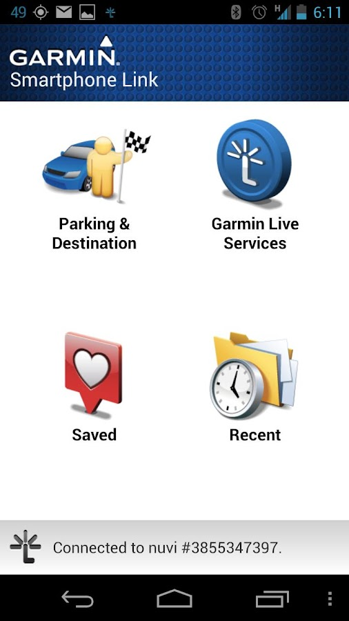 Garmin Smartphone Link - screenshot