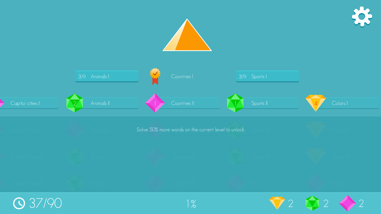 Pyramid Jumble- screenshot