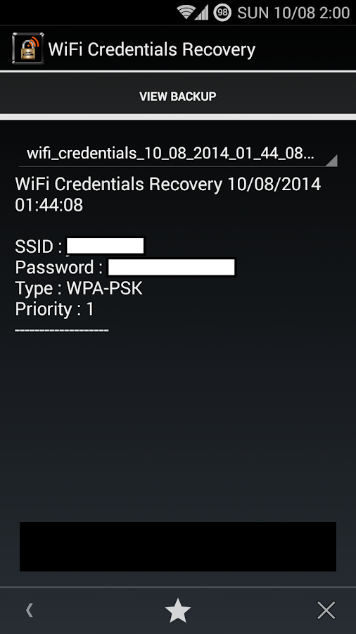 WiFi Credentials Recovery★ROOT - screenshot