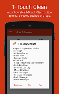 1-Touch Cache Cleaner- screenshot thumbnail