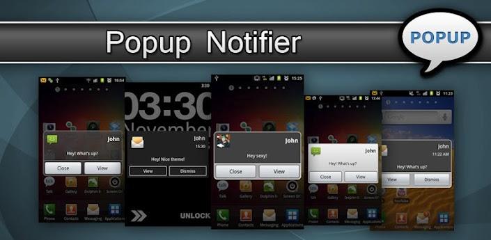 تطبيق الإشعارات الرائع Popup Notifier Plus النسخه الكامله