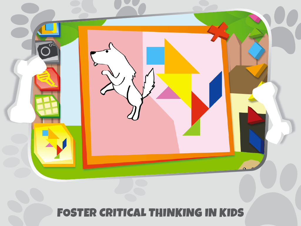 Kids Tangram Puzzles: Dogs - screenshot