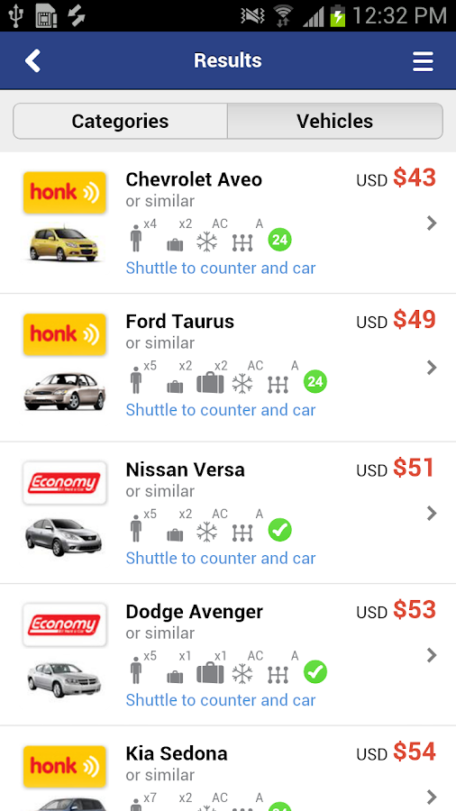 Airport Car Rental- screenshot