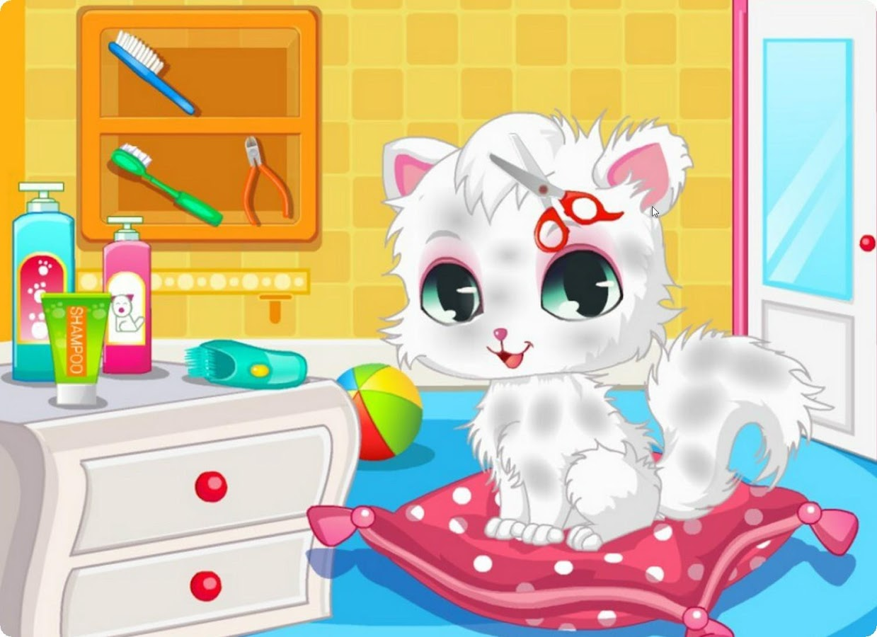 cat games for kids cut hair games