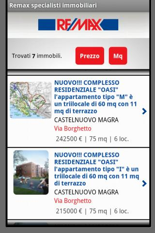Remax specialisti immobiliari - screenshot