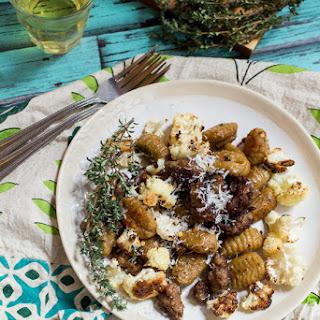Sweet Potato Gnocchi with Sausage and Cauliflower