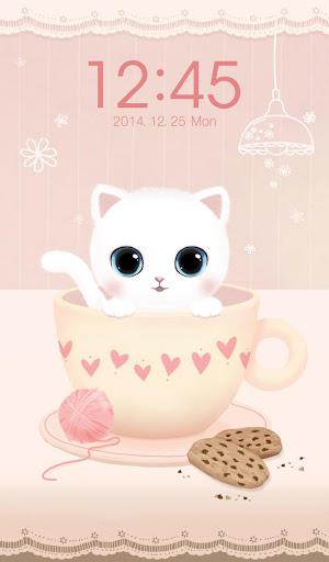 초코칩 고양이 잠금 테마 - 아톰 락커 테마