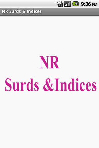 NR Surds Indices