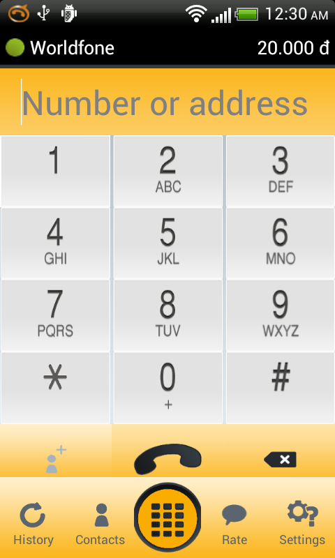 Worldfone for Android - screenshot