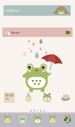 비 오는날의 개구리 도돌런처테마