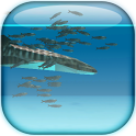 Whale shark and Sardines icon