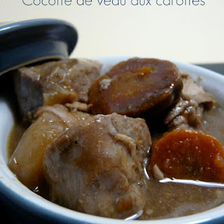 Veal Stew with Carrots.