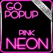 Pink Neon GO Popup theme