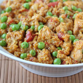 Curried Chicken Quinoa with Peas.