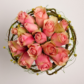 Pink Rose Bouquet by Phil Portus - Flowers Flower Arangements ( rose, bouquet, pwc 122, roses, pink, flower )