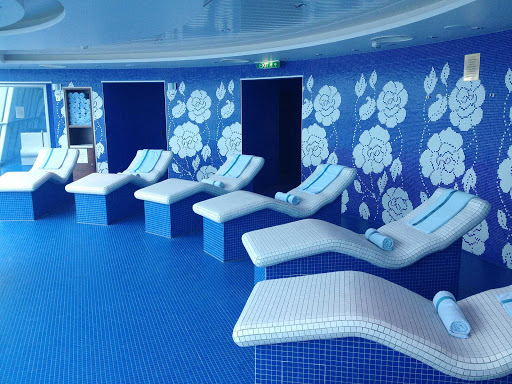 Celebrity-Solstice-Persian-Garden-lounge-chairs - Head to the Persian Garden spa aboard Celebrity Solstice for heated ceramic lounge chairs and a relaxation room.